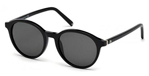 nouveau produit a9a37 bfdd6 lunettes de soleil mont blanc mb 505 s 01b: Amazon.fr ...