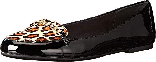 Bella Vita Women's Thora, Black Patent/Leopard Pony Hair, 7 W US (Pony Ladies W Footwear)