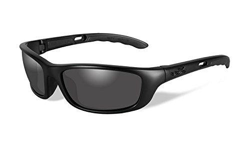 Prescription X Wiley Lenses (Wiley X P-17 Sunglasses, Smoke Grey, Matte Black)