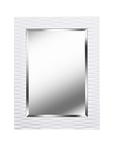 Kenroy Home Kendrick Rectangular Wall Mirror, 38.5 Inch Height, 1.5 Inch Width, White