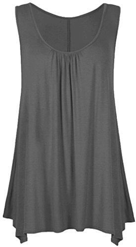 Vanilla Inck - Camiseta sin mangas - para mujer gris