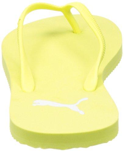 Puma Damen First Flip WNS Zehentrenner Gelb (soft fluo yellow-puma white 08)