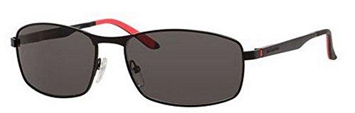 Carrera 8012/S Sunglasses CA8012S-0003-M9-6017 - Matte Black Frame, Gray Polarized Lenses, Lens