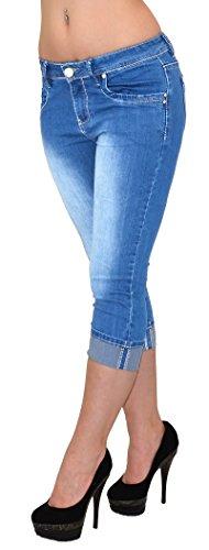 by-tex Jean femme capri pantalon pour femmes capri femmes jean en grandes tailles J242 J242