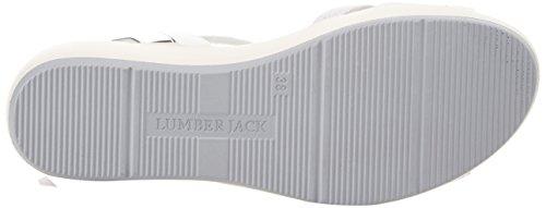 White Bianco Silver Sandali Caviglia con Cinturino Blanche Donna Lumberjack alla 006P33 xqv8Sfwz