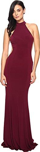 Faviana Women's Jersey Halter w/Illusion Cut Out 7943 Bordeaux Dress