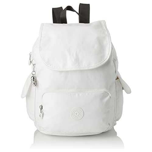 chollos oferta descuentos barato KiplingCity Pack SMujerMochilasBlanco White Metallic 27x33 5x19 Centimeters B x H x T