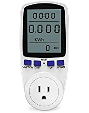YEESON Plug Power Meter & Electricity Usage Monitor, Energy Watt Voltage Amps Meter with Energy Digital LCD Display Overload Protection, Reduce Your Energy Costs