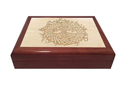 - Celtic Tree of Life Engraved Wooden Keepsake Box