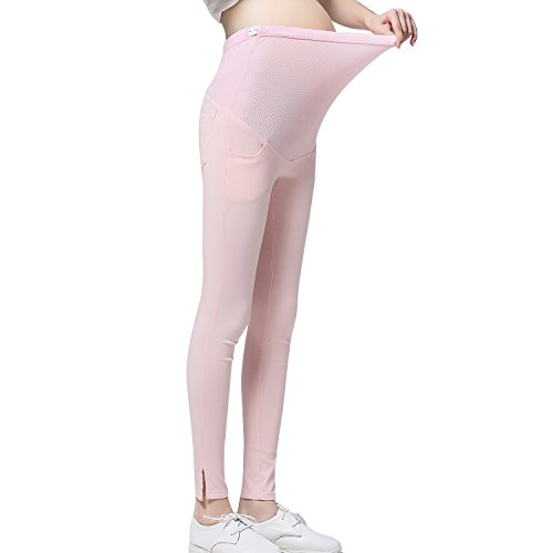 JOYNCLEON Pregnant Women Work Pants Stretchy Maternity Skinny Ankle Trousers Slim for...