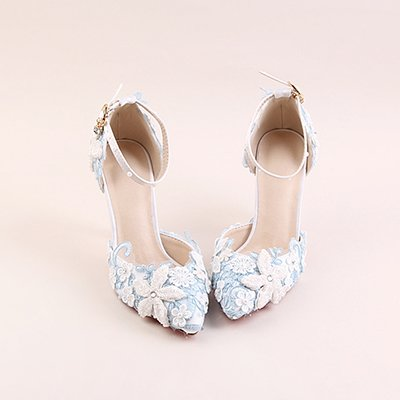 Sandals Wedding Bag White High Sandals Heeled Shoes Shoes Bride Shoes Shoes Blue Pearl Pointed Set Prom Diamond Pink 4 Blue Shoes Flower VIVIOO Dress Lace Set ZqOvUFqw