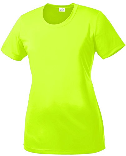 DRI-Equip(tm) Women's All Sport Neon Color High Visibility Athletic T-Shirts-S]()