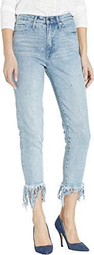 Zip Juicy Couture (Juicy Couture Women's Crystal Fringe Hem Girlfriend Jeans Surfrider Wash 26 27)