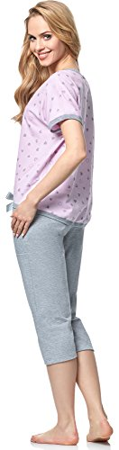 Italian Fashion IF Pijama para mujer Celia 0225 Rosa/Melange