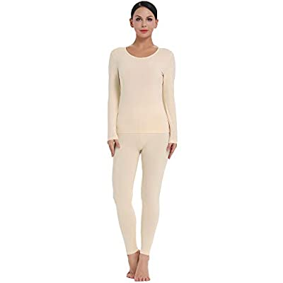 Amorbella Womens Cotton Thermal Underwear Long Johns Base Layer Set at Women's Clothing store