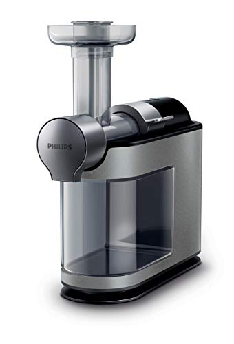 Philips Kitchen HR1897/34 Micro Masticating Juicer Avance Collection, Silver, One Size,