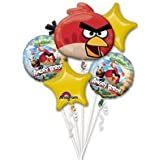 Angry Birds Party Supplies Mylar Foil Metal Balloon Boquet