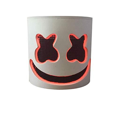 Fiber Replica Optic Helmet (Music DJ LED Mask Party Prop Full Head Mask Halloween Cosplay Replica Party Props Latex Helmet)