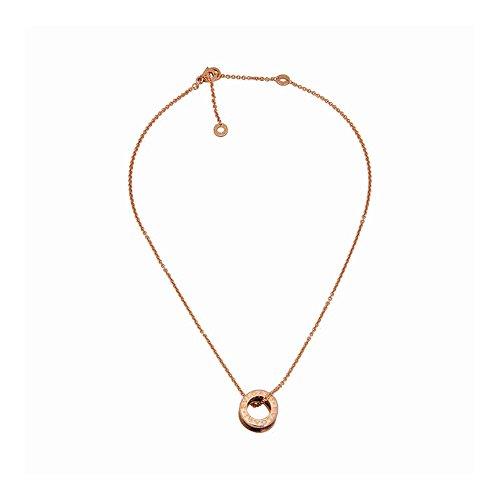 Bvlgari B.Zero1 18k Rose Gold and Black Ceramic Pendant (Bvlgari Rose Necklace)