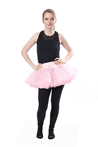 BellaSous Luxury Adult Woman Very Short Sexy Tutu Skirt for Valentines, Halloween, Costume Wear, or Dress up Pink ()