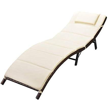 Amazon.com: daonanba sol cama cómodo Sunlounge plegable ...