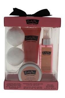 Lucky Brand Lucky You By Lucky Brand For Women - 4 Pc Kit 3.4oz Fragrance Mist, 3.3oz Body Wash, 2.7oz Body Butter, 2 X