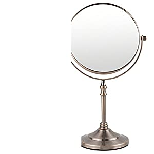 6Inch double-sided tabletop makeup mirror/ cute Princess vanity mirror/ creative circle mirror/ three times times magnifying-F best