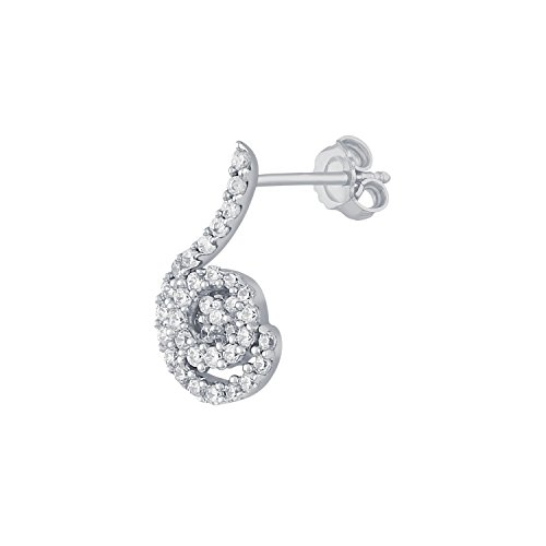 Giantti 14 carats Diamant pour femme Dangler Boucles d'oreilles (0.1154 CT, VS/Si-clarity, Gh-colour)