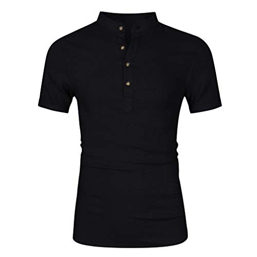 Men's Relaxed Short Sleeve Turndown Sparkle Sequins Polo Shirts 70s Disco Nightclub Party T-Shirts Tops S-XXL Black