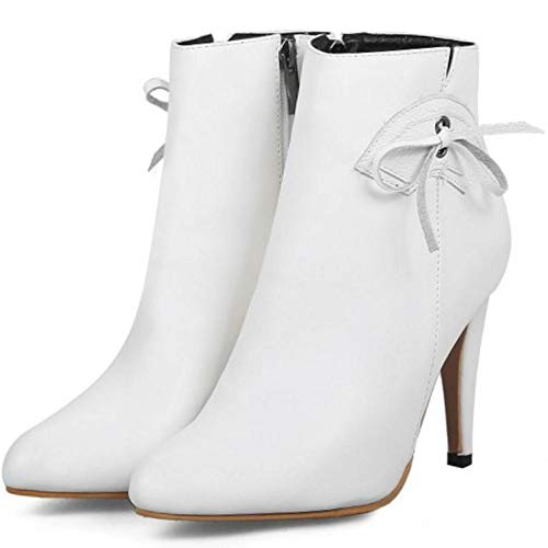 Coolcept High Boots Heel Women Zip White Short qwqg4zH