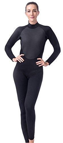 (Langer Lifurious 3mm Super Stretch Neoprene Women's Full Wetsuit Scuba Diving Snorkeling Surfing Canoeing Swiming (Medium))