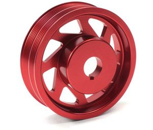 Perrin Performance PSP-ENG-100RD Red Crank Pulley - (93 Impresa - Boost Perrin