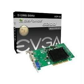 (eVGA Video Card 512-A8-N403-LR E-Geforce 6200LE AGP8X 512MB DDR2 DVI-I VGA)