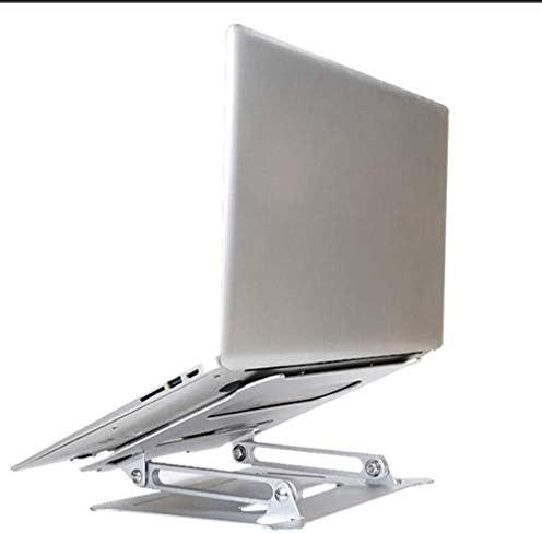 ラップトップスタンド、人間工学に基づいて設計さ調節可能なアルミ合金のラップトップスタンド、10から15.6インチのノートパソコンの互換性のあるスタンドは、コンピュータスタンドスタンド (Color : Silver)