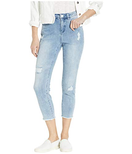 FDJ French Dressing Women's Olivia Roll-up Cropped Jean with Stripe Inside Patches Detail