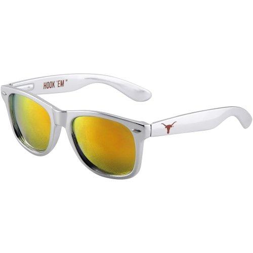 Society43 NCAA Texas Longhorns TEX-6 Chrome Frame, Orange Lenses Sunglasses, One Size, Chrome by Society43