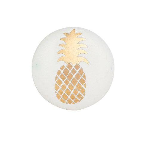 Set of 6 Gold Pineapple Ceramic Knobs  Decorative Cabinet Pulls for Cabinets Dressers and Drawers  Handmade Drawer Knobs for Bathroom Fixtures Bedroom Living Room or Kitchen Cabinetry by Artisan