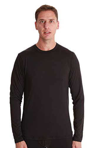 - At The Buzzer Mens Performance Thermal Long Sleeve Crew Neck Top 55942-BLK-S Black