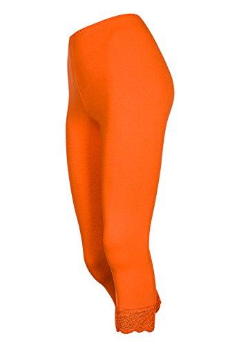 Galaxie Femmes Longueur Leggings Dentelle Pour Capri Différentes 16 De En Coton Orange Couleurs 4 Lot 2 Avec 3 PrxPvq4wt