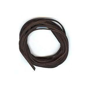Dark Espresso Brown Faux Leather Suede Necklace Cord 10 Feet