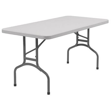 Metal Plastic Folding Table (2 Set of National Public Seating BT3060 Steel Frame Rectangular Blow Molded Plastic Top Folding Table, 1000 lbs Capacity, 60