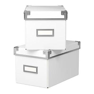Aufbewahrungsbox Mit Deckel Ikea ikea aufbewahrungsbox kassett 2 er set regalkisten mit deckel und