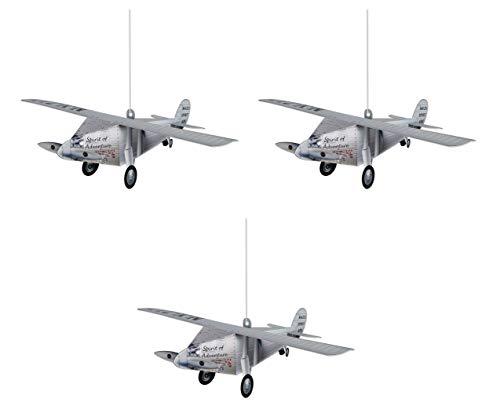 Beistle 53338 3-D Airplane Centerpieces 3 Piece, 15.25