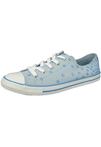 537204C Converse AS OX Dainty base Tex Blanc Fountain Blue/Monte Blue