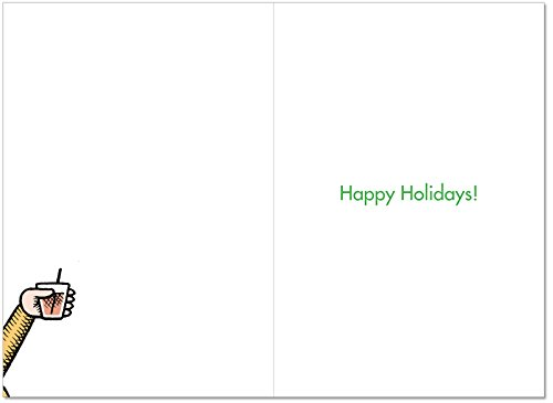 B2464XSG Box Set of 12 Box Of Holiday Travel Song Christmas Cards Humor Christmas Greeting Cards; with Envelopes by NobleWorks (Image #1)