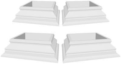 New England - Kit de Ribetes para Bases de pérgola de 12, 7 x 12, 7 cm: Amazon.es: Jardín