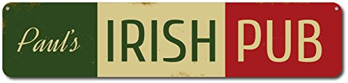 Irish Pub Name Bar Sign, Personalized Metal Bar Decor, Custom St. Patricks Day Sign, Irish Flag Bar Decor - Quality Aluminum ENSA1001678 - 9