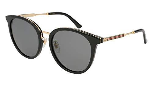 Gucci GG 0204SK 001 Black Plastic Fashion Sunglasses Grey Lens 001 Black Plastic Sunglasses