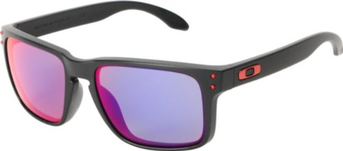 Oakley Holbrook Sunglasses - Matte Black / Positive Red Iridium - Red Lenses Oakley Sunglasses