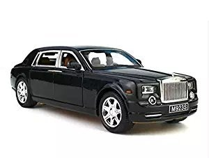 Greshare Model car, 1:24 Rolls-Royce Phantom Diecast Sound & Light & Pull Back Model Toy Car Black New in Box